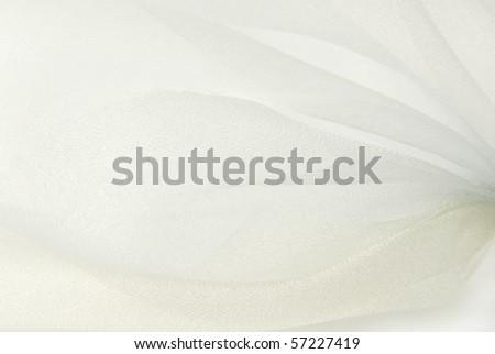 white organza fabric texture background - stock photo