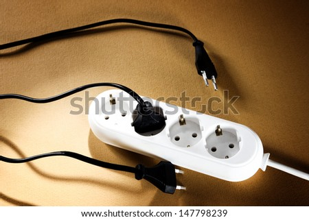 White outlet isolated. Great details.