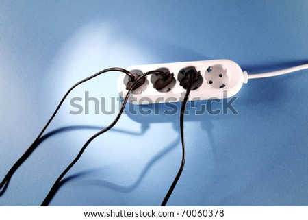 White outlet on background. Great details and colors. - stock photo