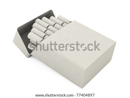 White pack of cigarettes - stock photo