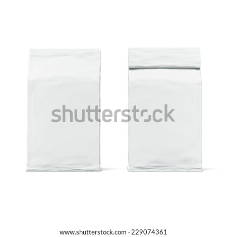 White package - stock photo