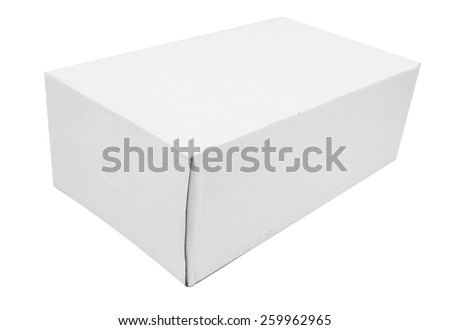 White Package Box. For cosmetics, ointments, cream, shoes and other products.
