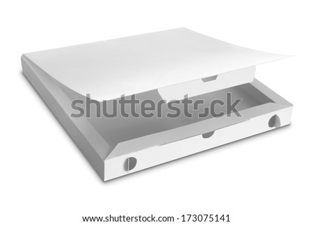 white Package Box for food products isolated over white background