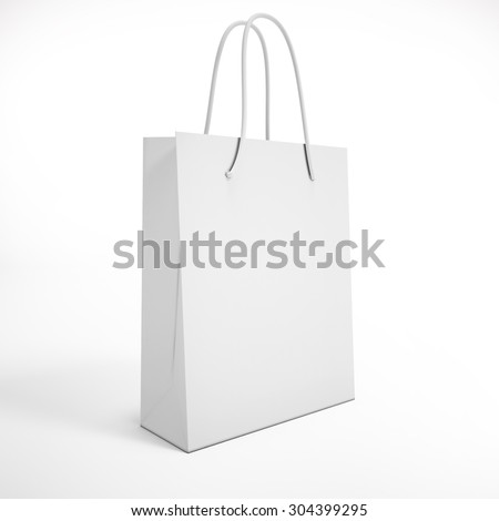 white package on a white background. mock up - stock photo