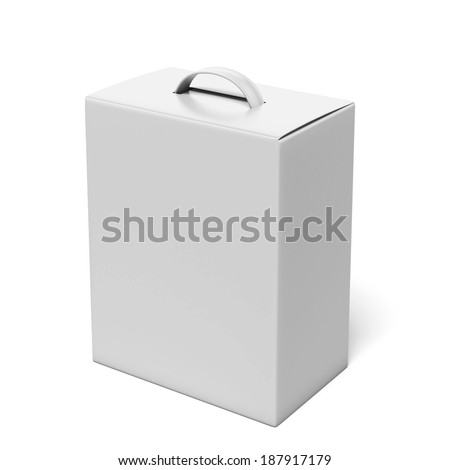 White package with a handle - stock photo