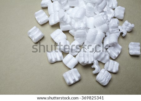 white packaging filling  - stock photo
