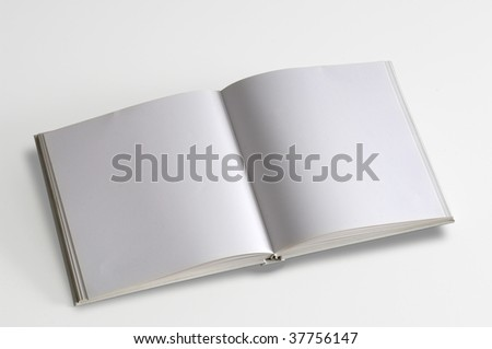 White pages book isolated over white background. - stock photo