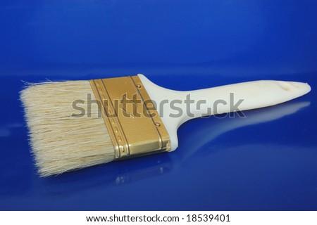 White paint brush - stock photo