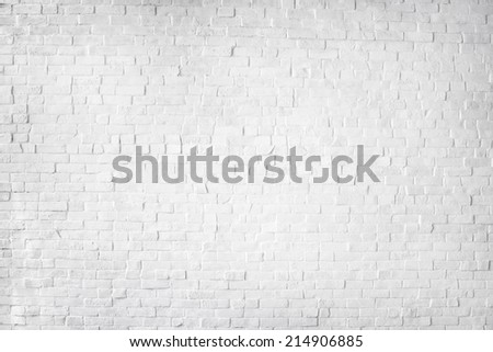 White Painted Beautiful Brick Wall - stock photo