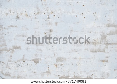 white painted metal panel and rust  - stock photo