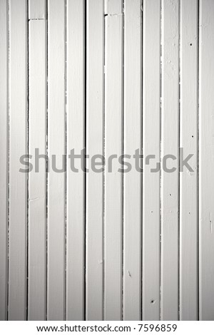 White painted wood background texture. Picture of a deck ceiling. - stock photo