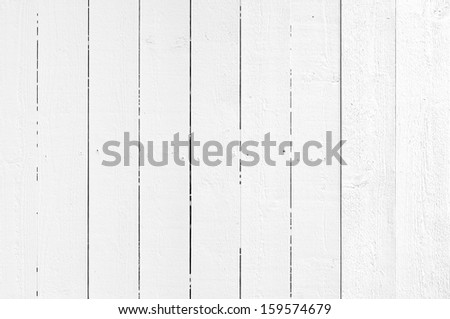 White painted wooden background - stock photo
