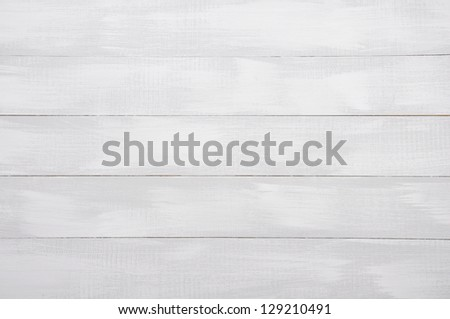 White painted wooden background. Wooden texture. - stock photo