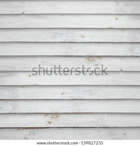 White painted wooden planks side by side - stock photo