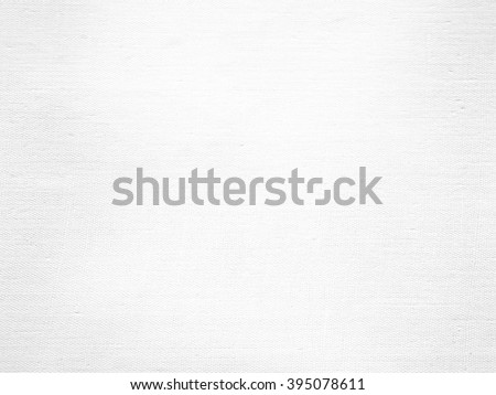 white paper background canvas texture  - stock photo