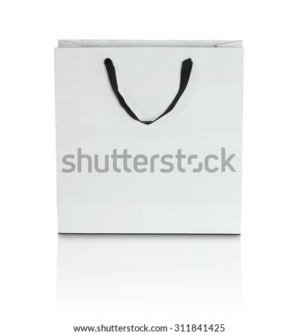 white paper bag - stock photo