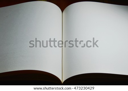 white paper book background