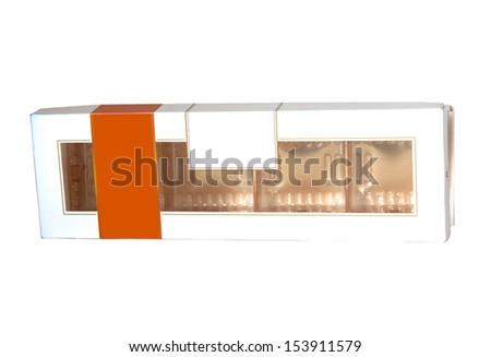 white paper box on white - stock photo