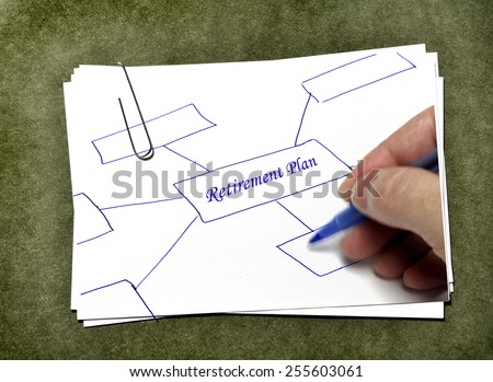 White paper cards with paperclip for business or school on green background - stock photo