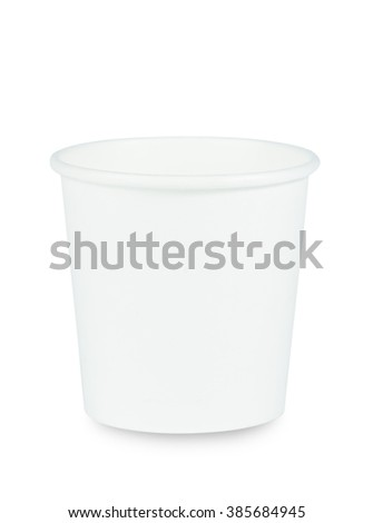 White paper coffee cup isolated on white.