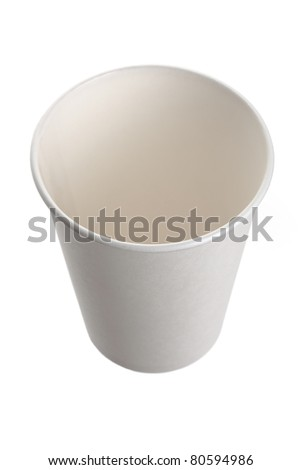 White Paper Cup close up - stock photo