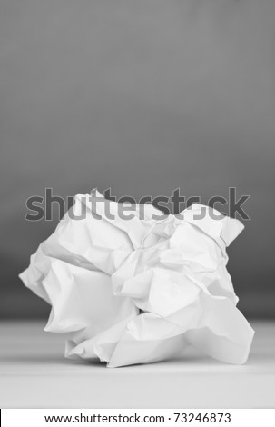 White paper group, gray background - stock photo