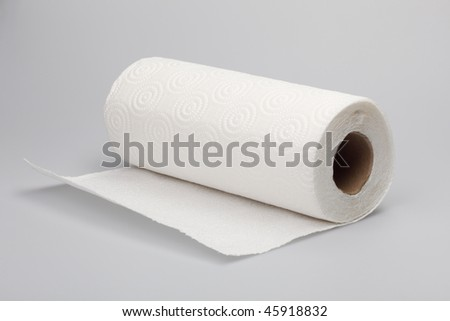White paper in a roll - stock photo