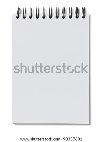 White paper notebook - stock photo