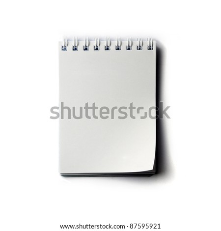 white paper notepad isolated. - stock photo