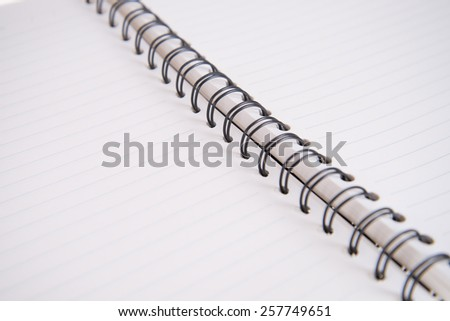 white paper of notebook - stock photo