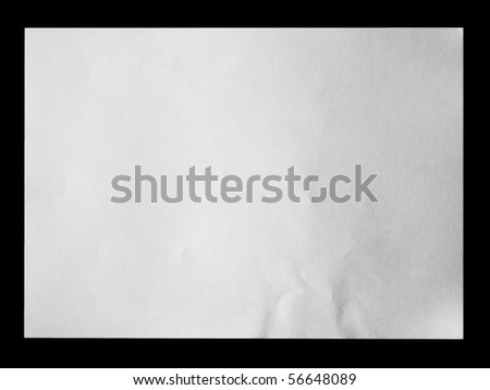 White paper on black background - stock photo