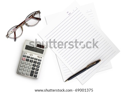 White paper on the background - stock photo