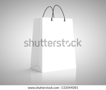 white paper package. close up - stock photo