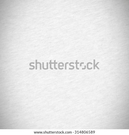 white paper texture background, cotton cloth texture and gray vignette - stock photo