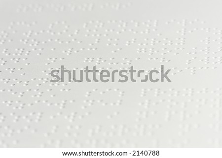 White paper with text in braille language - stock photo