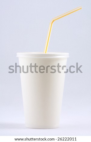 White  papercup on white background