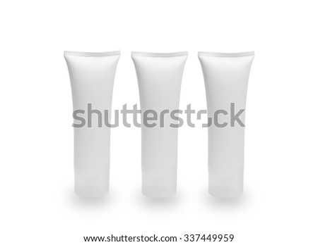 white pastic on white back ground - stock photo