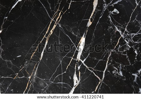 White patterned natural of black marble pattern for background and design. - stock photo
