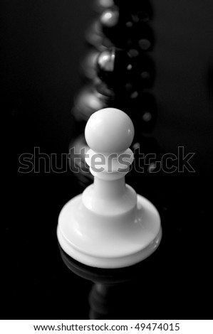 White Pawn Chess. Office Leader Concept. - stock photo