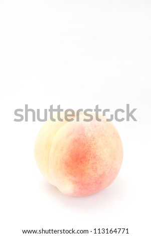 White peach on white background