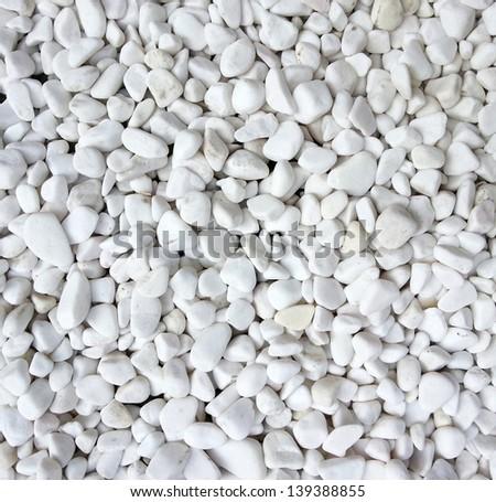 White pebble stone background - stock photo