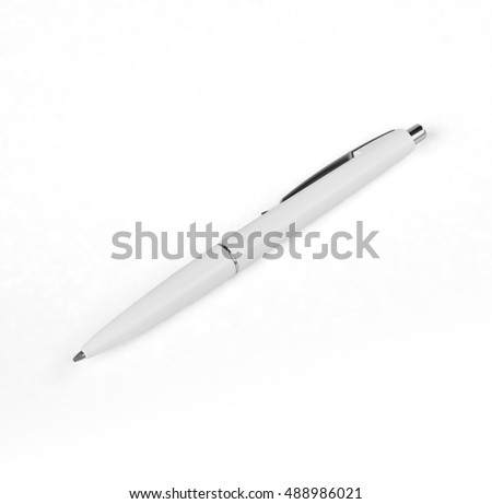 White pen on a white background