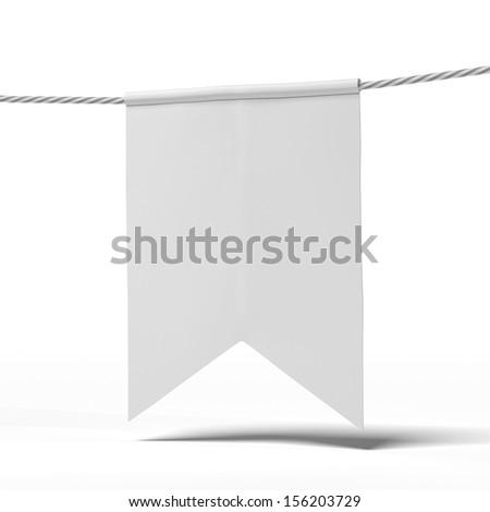 White Pennants - stock photo