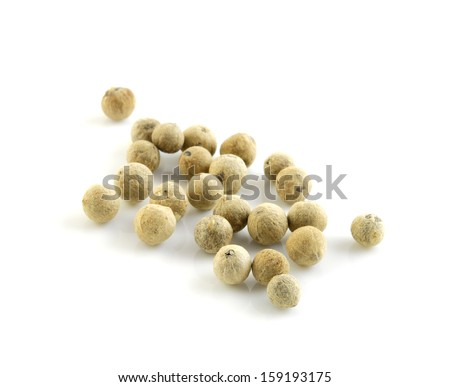 white pepper - stock photo