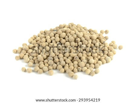 White pepper. Isolated on a white background - stock photo