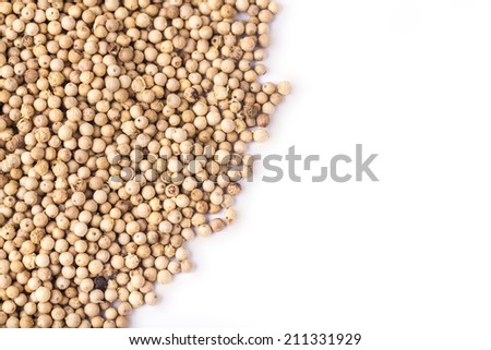 white pepper with copy space