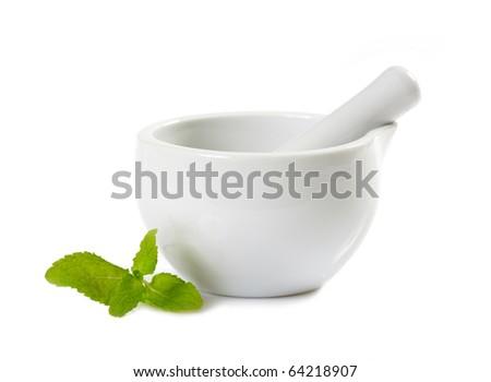 white pestle - stock photo