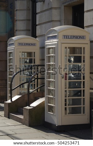 White 'phone boxes
