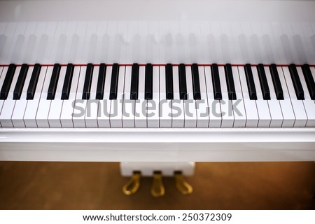 white piano - stock photo