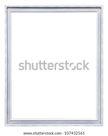 white picture frame. isolated on white - stock photo